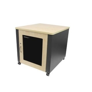 "Startech Rkqmcab12 Rack Enclosure Server Cabinet 21.5"" Soundproof Wood Finish"