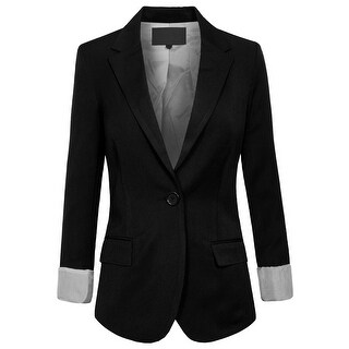 NE PEOPLE Women's One Button Oversized Boyfriend Blazer [NEWJ26] (More options available)