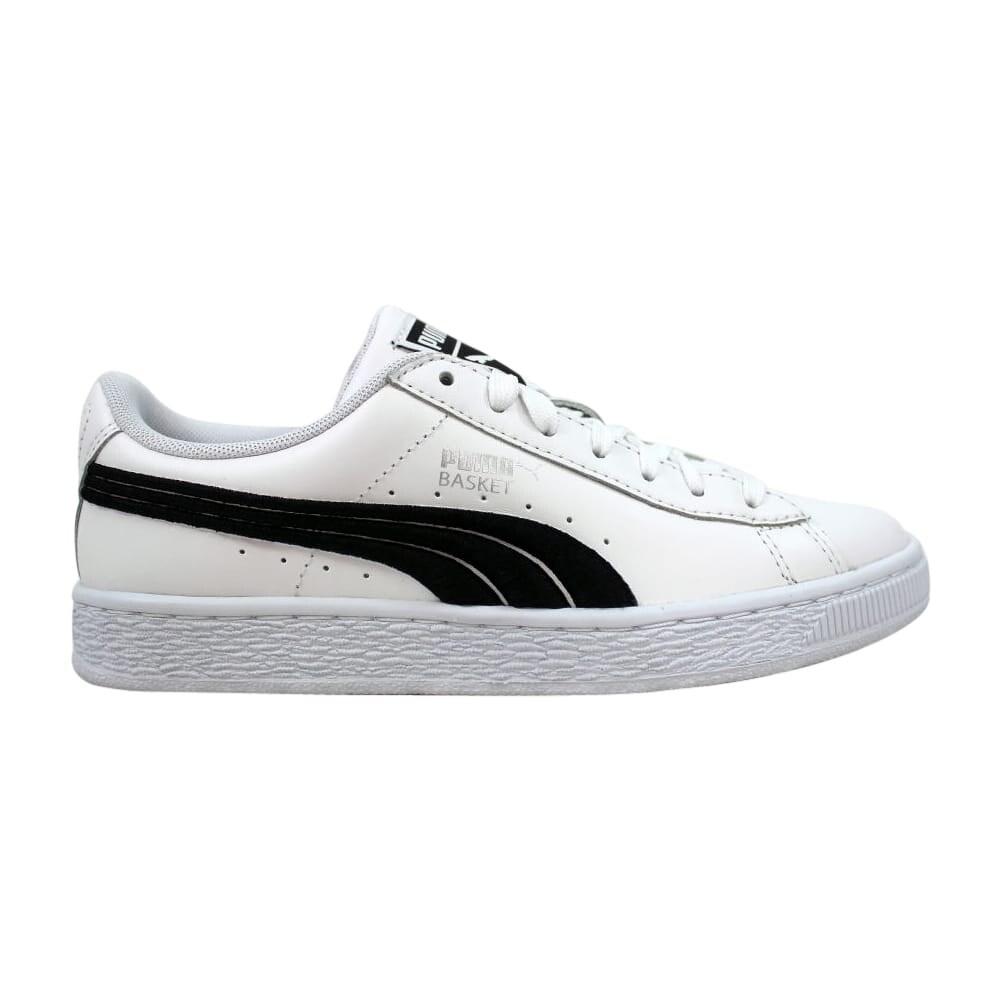 Puma Men's Basket Classic Badge White/Black 362550 01 Size 5