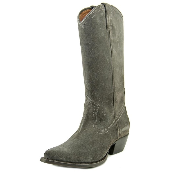 Frye Sacha Tall Women Pointed Toe Suede Gray Western Boot