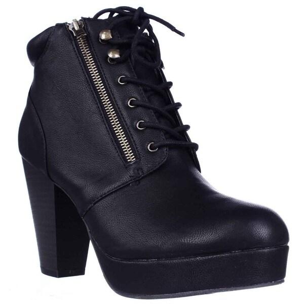 MG35 Rheta Platform Ankle Boots, Black