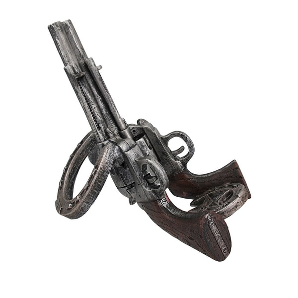 Shop Western Revolver And Horseshoe Tabletop Wine Bottle Holder