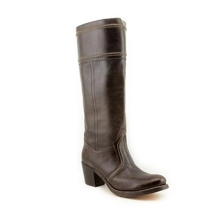 Frye Jane Round Toe Leather Knee High Boot