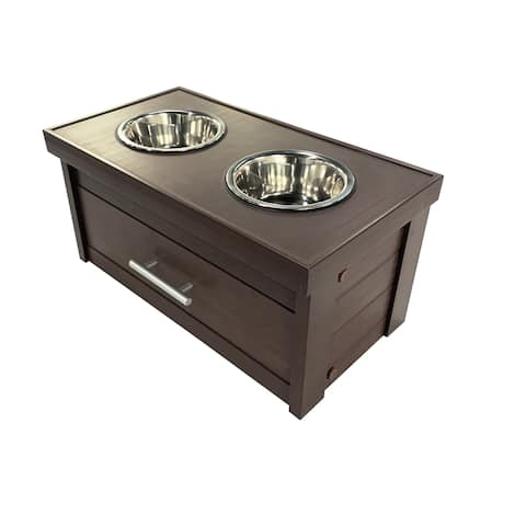 ECOFLEX® Piedmont 2-Bowl Dog Diner with Storage Drawer