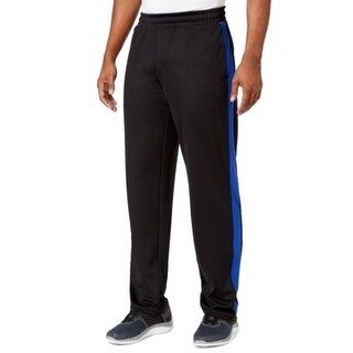Ideology NEW Black Cobalt Mens Size Large L Athletic Stripe Track Pants