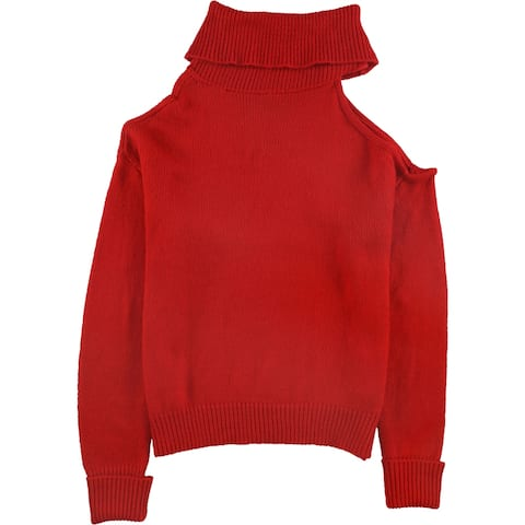 Guess Womens Cold-Shoulder Pullover Sweater