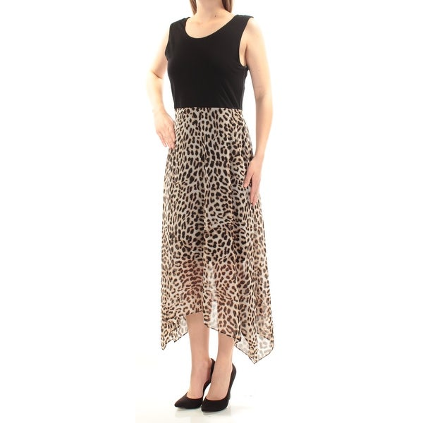 2f91695297 Shop VINCE CAMUTO Womens Black Animal Print Sleeveless Jewel Neck Maxi  Trapeze Prom Dress Size  M - Free Shipping On Orders Over  45 - Overstock -  23458778