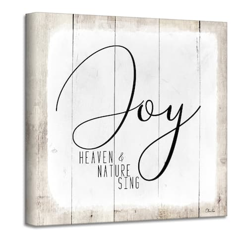 Ready2HangArt 'Joy' Holiday Canvas Wall Art by Olivia Rose
