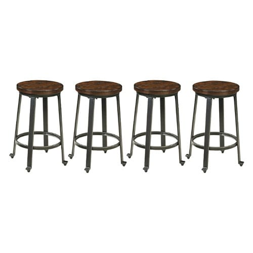 Challiman Stool Rustic Brown 4 Pack Challiman Stool 2-CN Rustic Brown