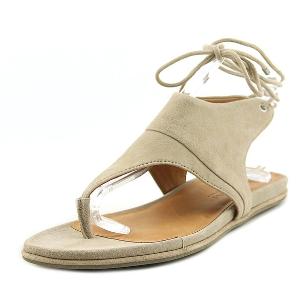Gentle Souls Olson Women Open Toe Suede Gray Thong Sandal
