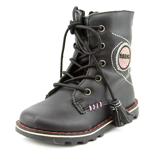 Beeko Kinsley Toddler Round Toe Synthetic Black Boot