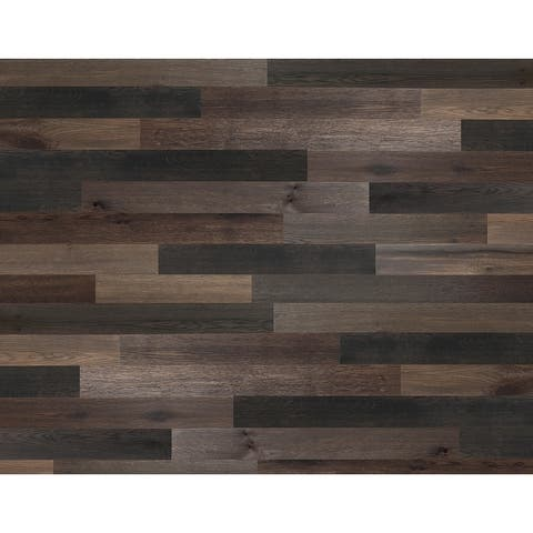 "Novogratz Genuine DIY Hardwood Wall Panels (20 Sq. Ft. of 5.1"" Wide Panels)"