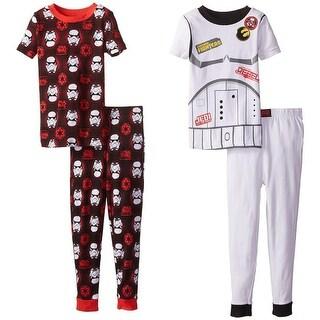Star Wars Boys 4-8 Darth Vader & Jedi 4-Piece Pajama Set - Black