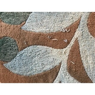 Nourison Contour Hand-tufted Botanical Mocha Area Rug - 8' x 10'6