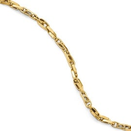 Italian 14k Gold Polished Fancy Link Bracelet - 8.25 inches