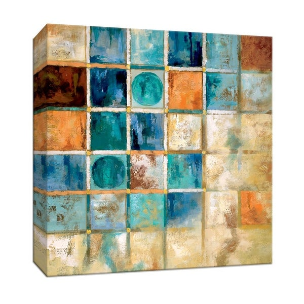 """PTM Images 9-147243 PTM Canvas Collection 12"""" x 12"""" - """"Gridlock"""" Giclee Patterns and Designs Art Print on Canvas"""