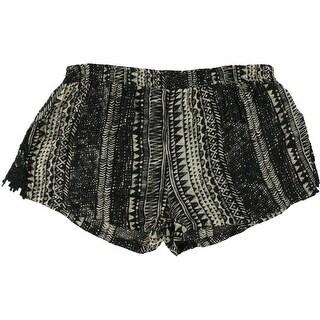 Volcom Womens Juniors La Dee Duh Lace Trim Printed Shorts - XL