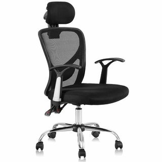 Costway Ergonomic Mesh High Back Office Chair Headrest Black