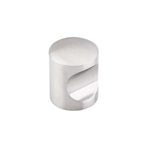 """Top Knobs SS22 Indent 1"""" Diameter Cylindrical Cabinet Knob from the Stainless Series - STAINLESS STEEL"""