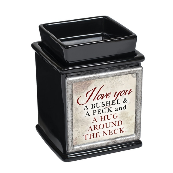 "5"" Black and Red ""love you A BUSHEL A PECK A HUG"" Printed Interchangeable Warmer - N/A"