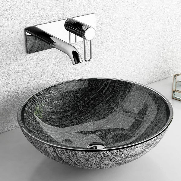 Glass Handmade Circular Vessel Bathroom Sink On Sale Overstock 32599317