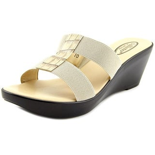 Callisto Ali Open Toe Canvas Wedge Sandal