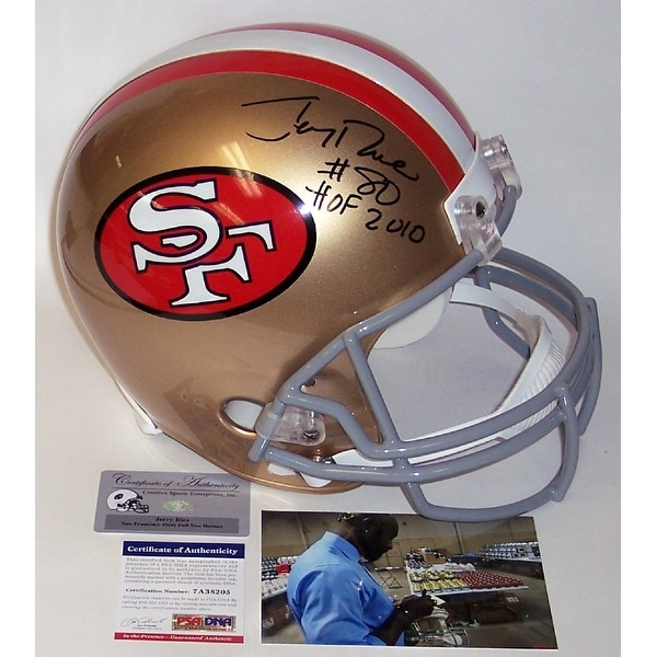 384b30a65 Shop Jerry Rice Autographed Hand Signed San Francisco 49ers Throwback Full  Size Helmet - PSA DNA - Free Shipping Today - Overstock - 12785245