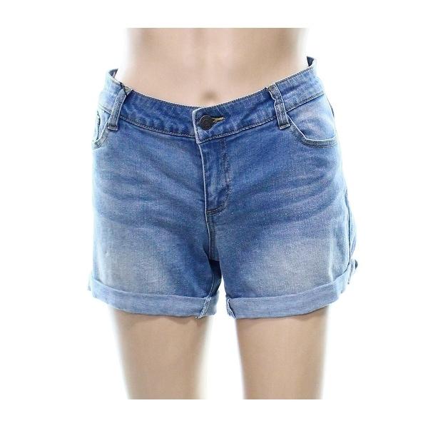 3ddea1b678 Shop Vero Moda NEW Blue Women's Size Large L Button-Closure Denim Shorts -  Free Shipping On Orders Over $45 - Overstock - 20714182