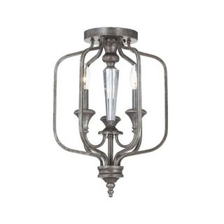 Jeremiah Lighting 26723 3 Light Up Lighting Semi-Flush Convertible Ceiling Fixture from the Boulevard Collection