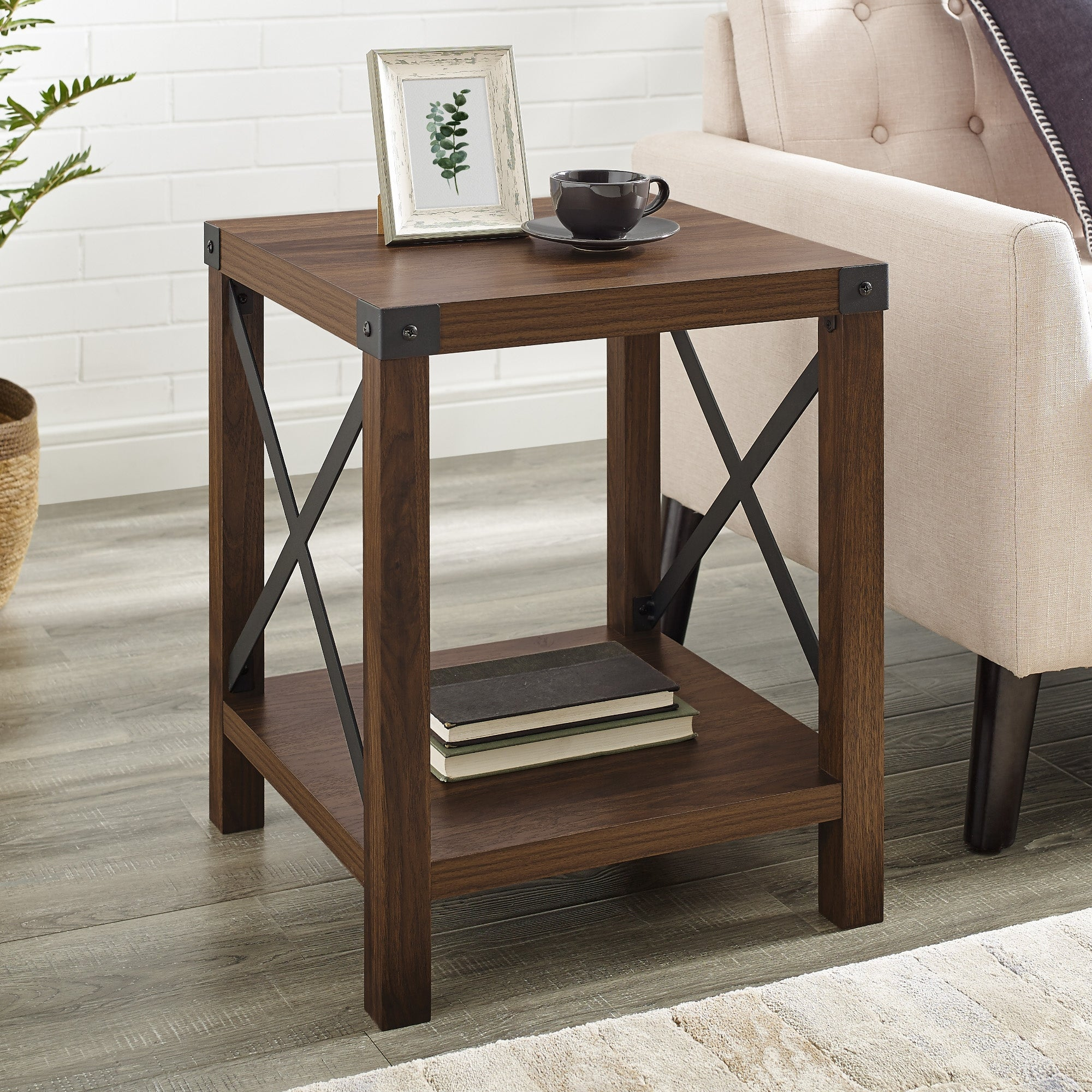 The Gray Barn 18 Inch Kujawa X Accent Side Table On Sale Overstock 21666058