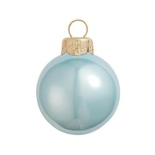 "Pearl Sky Blue Glass Ball Christmas Ornament 7"" (180mm)"