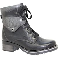 Dromedaris Women's Kara Metallic Boot Black Leather