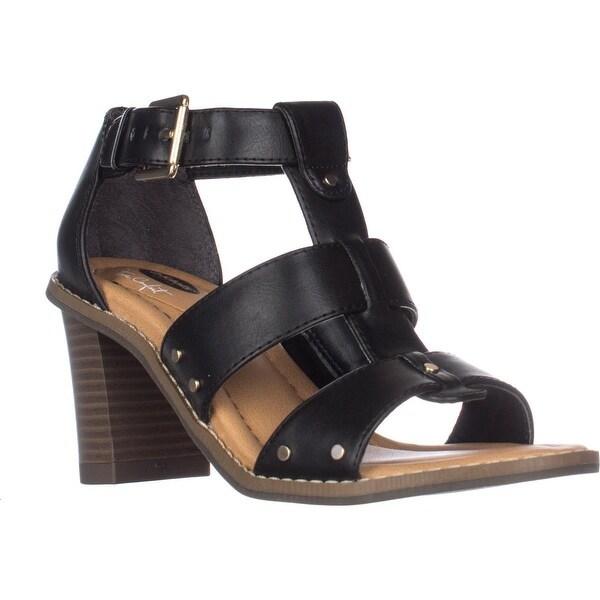 Dr. Scholls Proud Gladiator Heeled Sandals, Black