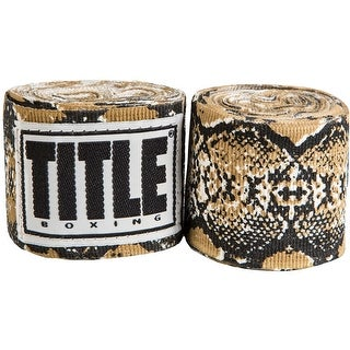 "Title Boxing 180"" Select Semi-Elastic Mexican Style Handwraps - Snakeskin"