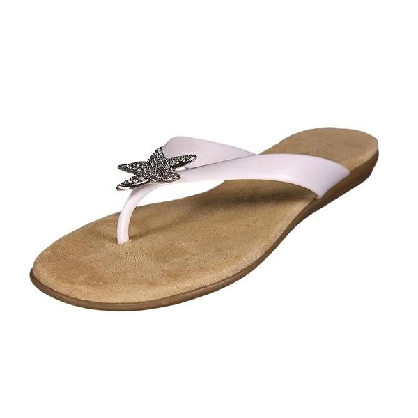 8db5b3bda Shop Aerosoles Beach Chlub Women Open Toe Synthetic White Flip Flop ...