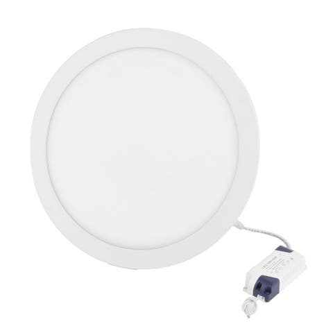 White 24W Round Bedroom Dimmable LED Recessed Ceiling Panel Light AC100-265V