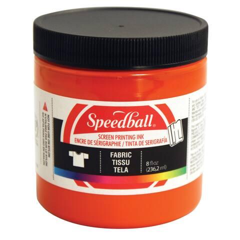 Speedball art products 4569 fabric screen ink orange 8oz