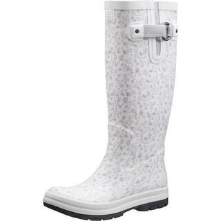 Helly Hansen 2016 Women's Veierland 2 Graphic Rain Boot - Light Grey/Blanc de Bla - 11285_930 - light grey/blanc de bla