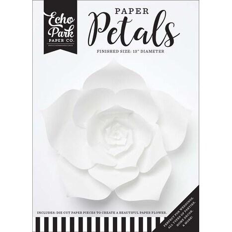 Large White Dahlia - Echo Park Paper Petals
