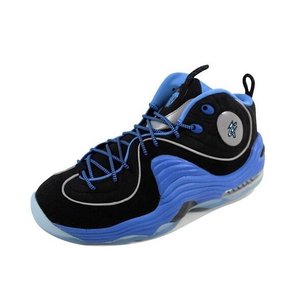 836b256ccd60bf Shop Nike Men s Air Penny II 2 Black Varsity Blue-Metallic Silver ...