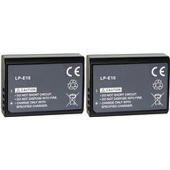 New Replacement Battery LP-E10 For CANON Camera Models 900mAh 7.4V Lithium Ion ( 2 Pack )