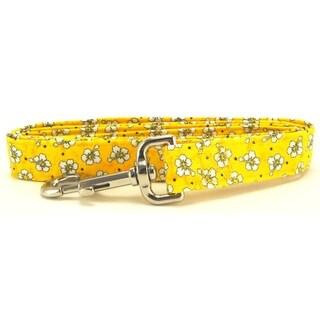 Yellow Hawaiian Flowers Dog Leash