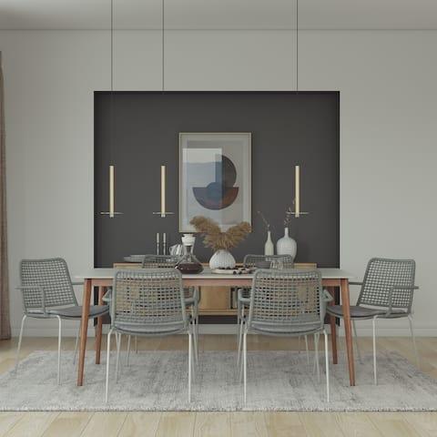 Midtown Concept Bleue 7pc Wood Indoor Dining Set