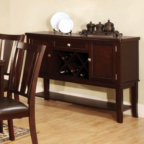 Furniture of America Wopp Transitional Espresso 52-inch Dining Server