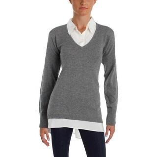 Lauren Ralph Lauren Womens Pullover Sweater Cashmere 2 in 1