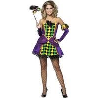 Rasta Imposta Mardi Gras Queen Adult Costume - Solid