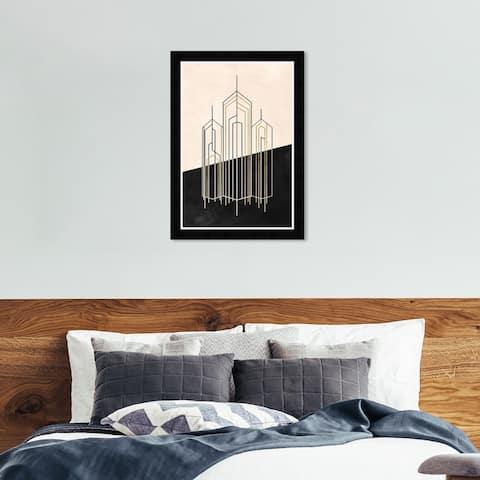 Hatcher & Ethan 'Metropolis' Wall Art Framed Print - Black, White