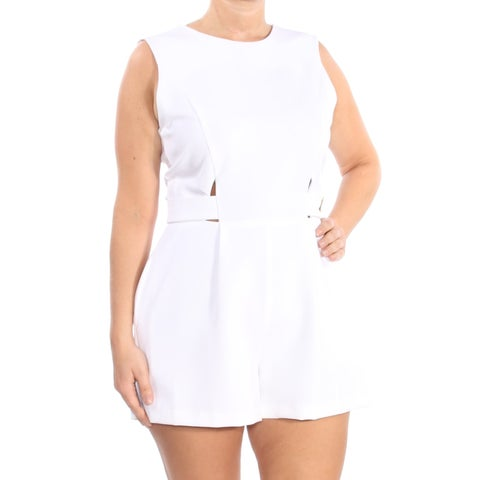 XOXO Womens Ivory Cut Out Sleeveless Romper Juniors Size: L