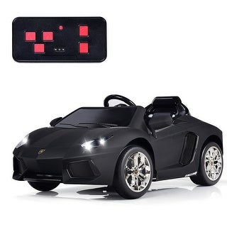 Gymax 12V Lamborghini Aventador Licensed Electric Kids Ride On Car RC w/Lights & Music