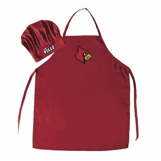 NCAA Louisville Cardinals Chef Hat And Apron